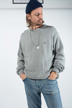 Load image into Gallery viewer, Vintage Nautica Jumper in Grey with Logo