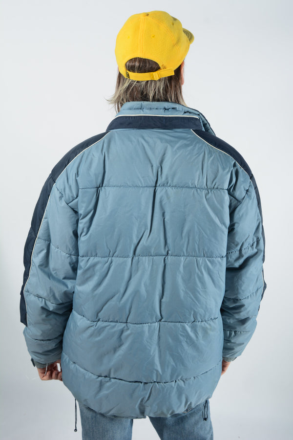 Vintage 90s Puffer Jacket in Blue