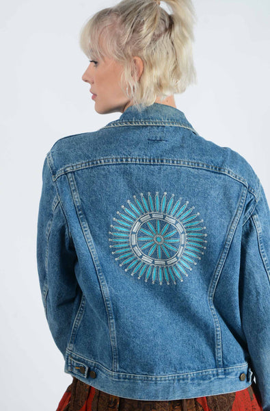Vintage Lee Denim with Back Embroidery