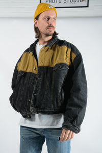 Vintage Denim Jacket in Grey - XXL