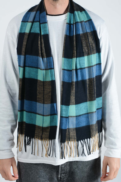 Vintage Check Scarf in Blue - 1 size