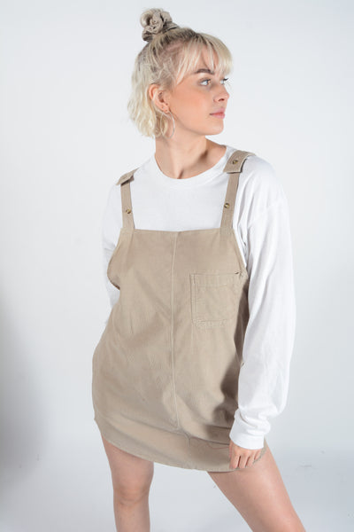 Bespoke handmade pinafore Cord dress