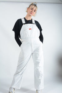 Vintage Dickies Dungarees in White - L