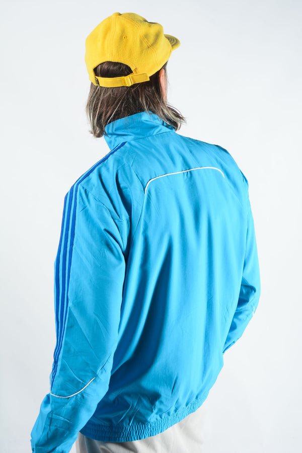 Vintage Adidas Shell Jacket in Blue  - L