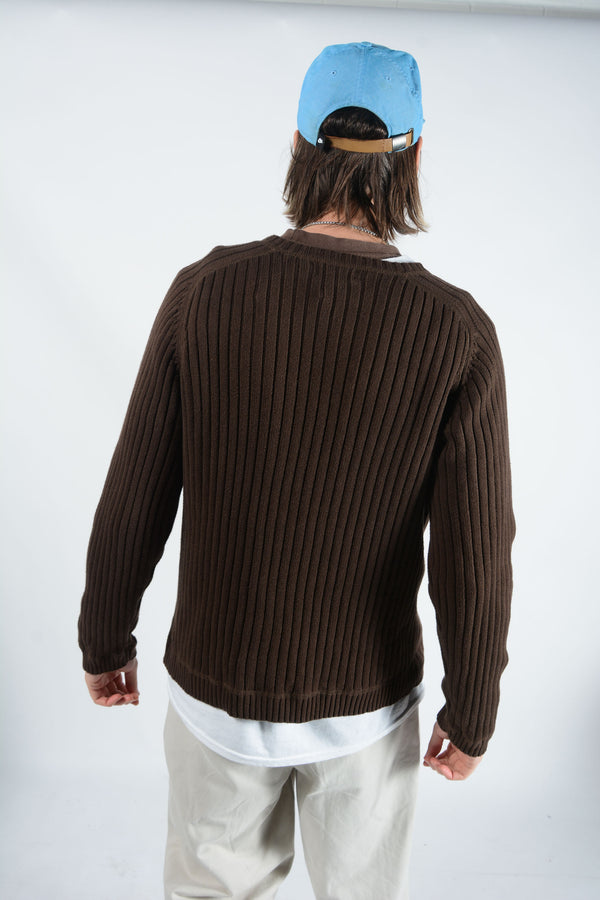Vintage Polo Ralph Lauren Jeans Jumper in Brown - L