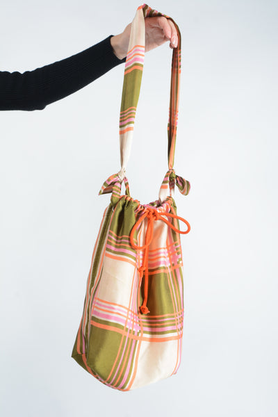 Reworked drawstring bag