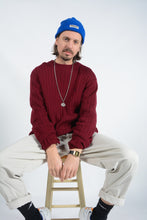 Load image into Gallery viewer, Vintage Nautica Ribbed Jumper in Maroon - L