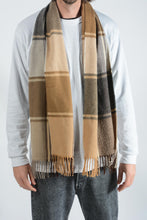 Load image into Gallery viewer, Vintage Check Scarf in Brown - 1 Size