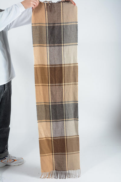Vintage Check Scarf in Brown - 1 Size