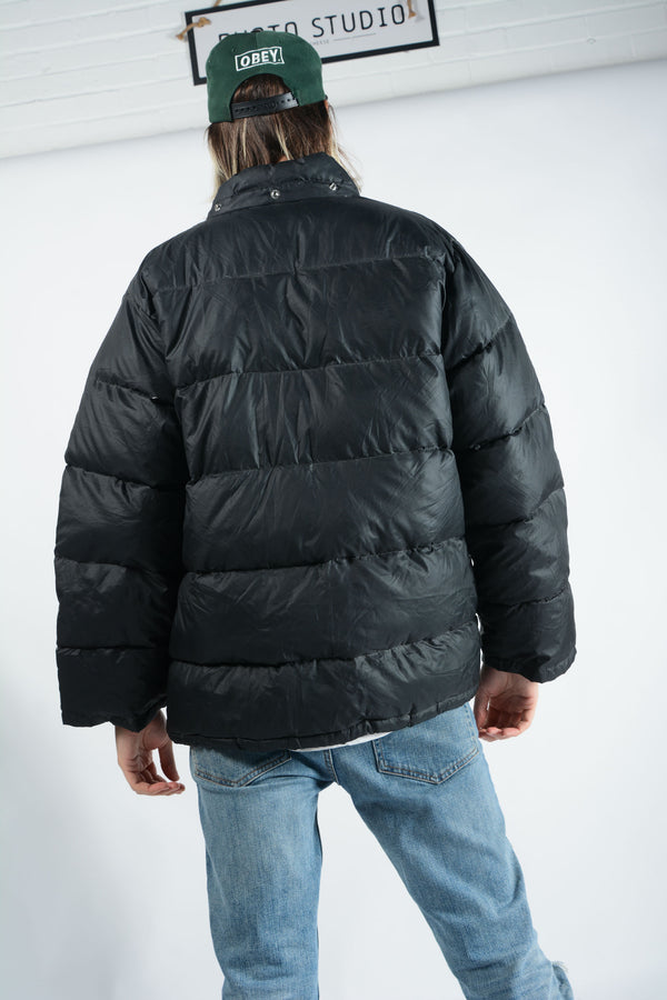 Vintage Puffer Jacket in Black