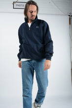 Load image into Gallery viewer, Vintage Champion 1/4 Zip Sweatshirt in Blue