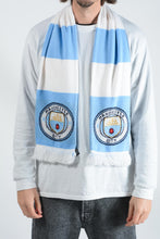 Load image into Gallery viewer, Vintage Scarf in Blue with Manchester City Football Print - 1 Size