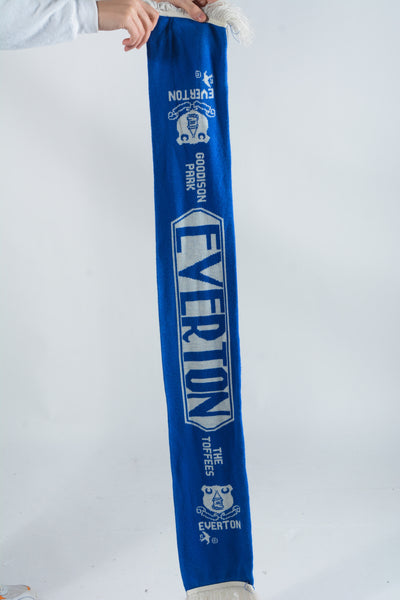 Vintage Everton Football Scarf in Blue - 1 Size