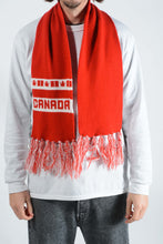 Load image into Gallery viewer, Vintage Scarf with Canada Print in Red - 1 Size