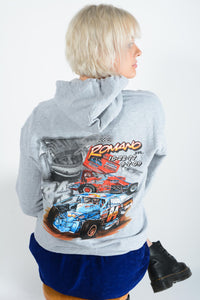 Vintage Hoodie Sports Car Racing Print