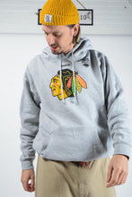 Load image into Gallery viewer, Vintage NHL Reebok Hoodie in Grey Indians Print