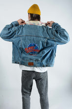 Load image into Gallery viewer, Vintage Planet Hollywood Denim Jacket in Blue - XL