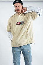 Load image into Gallery viewer, Vintage NIKE Hoodie in Sand with Flocked Logo - XXL