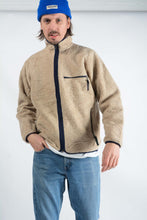 Load image into Gallery viewer, Vintage Patagonia Teddy Fleece Jacket in Beige - L