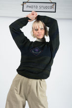 Load image into Gallery viewer, Vintage Preppy Knit Jumper in Grey - M