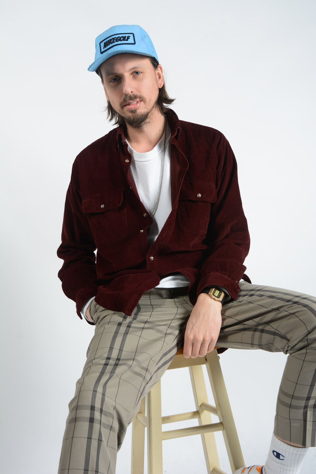 Vintage Corduroy Shirt in Brown - L