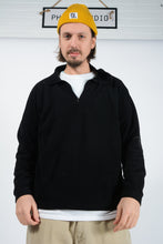 Load image into Gallery viewer, Vintage Lotto Fleece with 1/4 Zip in Black with Embroidered Logo - XXL