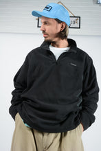 Load image into Gallery viewer, Vintage Reebok Fleece with 1/4 Zip and Logo in Black - XXL