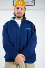 Load image into Gallery viewer, Vintage Fleece with North Sails 1/4 Zip in Blue with Logo - XL
