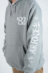 Vintage NIKE Air Force Hoodie in Grey - XL