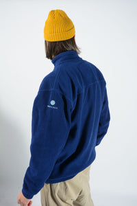 Vintage Fleece with North Sails 1/4 Zip in Blue with Logo - XL
