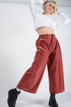Load image into Gallery viewer, Vintage Bespoke Rework Wide Leg Trousers in Pink - 12