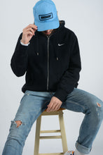 Load image into Gallery viewer, Vintage NIKE Hoodie in Black with Embroidered Logo - XL