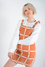 Load image into Gallery viewer, Vintage Bespoke Pinafore Rework Dress in Orange - UK 10