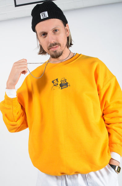 YIFY Sweatshirt in Gold with Anon Print
