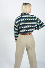 Load image into Gallery viewer, Vintage Fleece Cropped Reworked Jumper 1/4 Zip - M