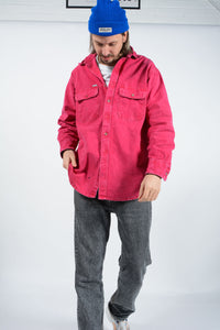 Vintage Carhartt Workwear Overshirt in Red Stone Wash - XL