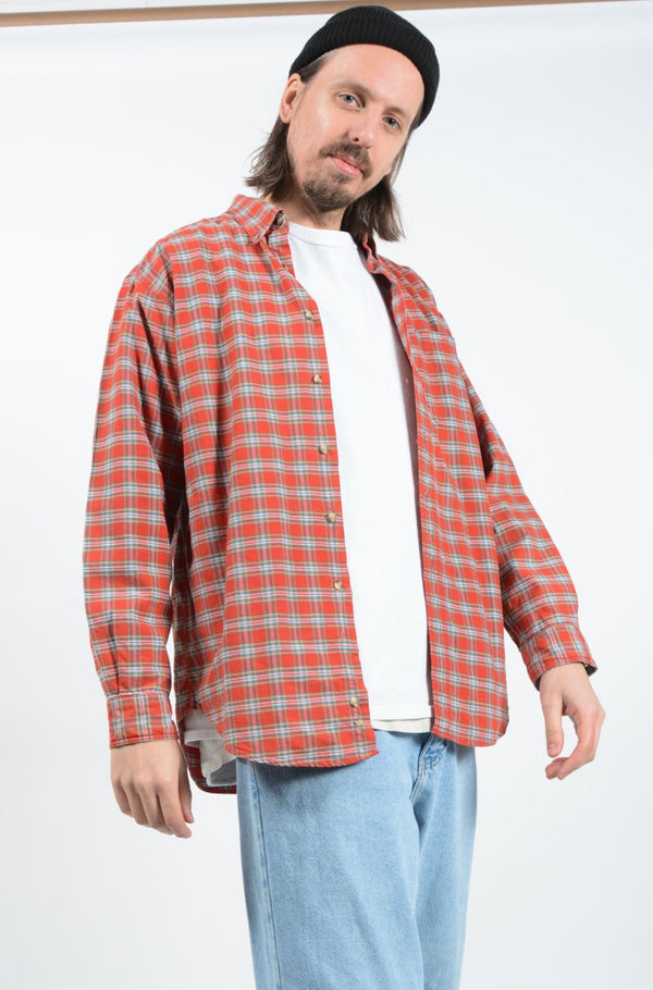 Vintage 90's Shirt Workwear Red - M