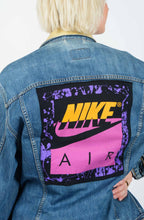 Load image into Gallery viewer, Vintage Levi's Denim Jacket Reworked Nike Back Print - XL