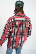 Vintage Tommy Hilfiger Red Checked Heavy Shirt with Logo - XL