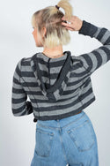 Vintage Tommy Hilfiger Rework Cropped Jumper Grey - L