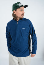 Load image into Gallery viewer, Vintage Columbia 1/4 ZIp Fleece in Blue - L