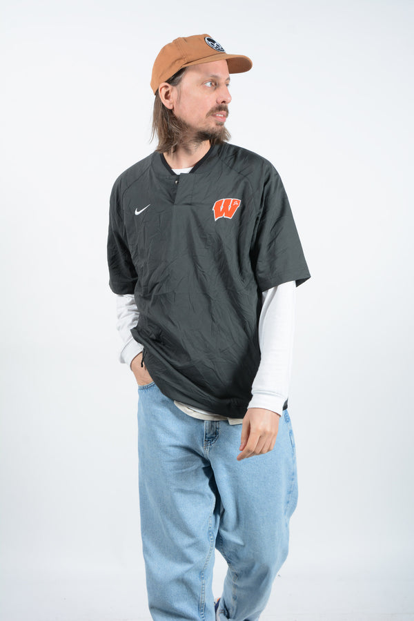 Vintage NIKE Sports Pullover Grey - L
