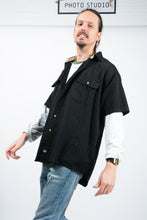 Load image into Gallery viewer, Vintage Dickies Skater Workwear Shirt in Black - XL