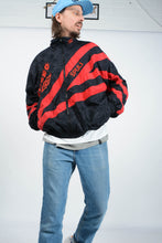 Load image into Gallery viewer, Vintage 80s Umbro Shell Jacket in Black with Embroidery - XL