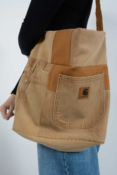 Vintage Carhartt Reworked Bespoke Workwear Bag Brown - 1 Size