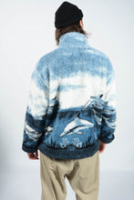 Load image into Gallery viewer, Vintage 80s Shearling Fleece Cosy Jacket in Blue - XL