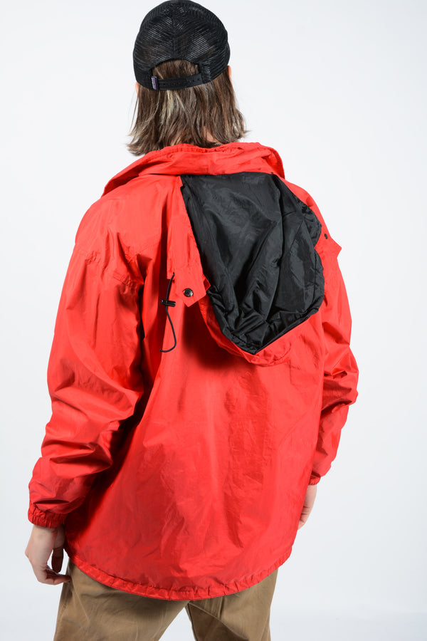 Vintage North Face Jacket in Red with Logo - L