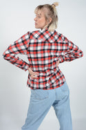 Vintage Shirt Flannel Workwear Check Red - M
