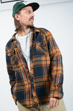 Load image into Gallery viewer, Vintage 90's Shearling Workwear Skacket Check Jacket - XL