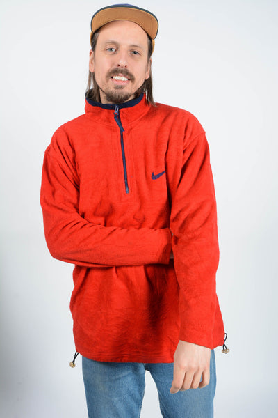 Vintage Nike Bootleg Fleece 1/4 Zip Red
